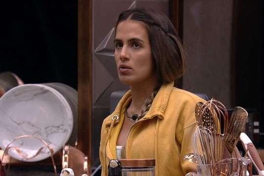 Carolina corre risco de ir para o paredão quádruplo do BBB 19 (Foto/reprodução TV Globo)