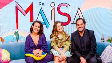 Maisa Silva. 02 – Fernanda Souza, Maisa Silva e Matheus Ceará. Crédito das fotos: Gabriel Cardoso/SBT.