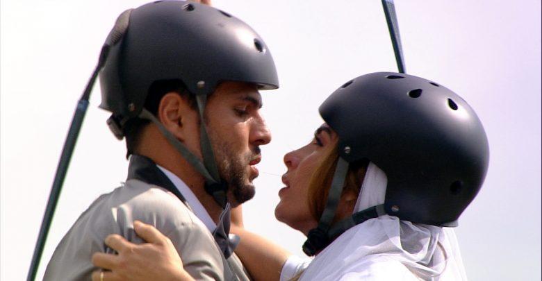 Prova dos Casais do Power Couple Brasil 2019 (Crédito das fotos: Edu Moraes/Record TV e Antonio Chahestian/Record TV)