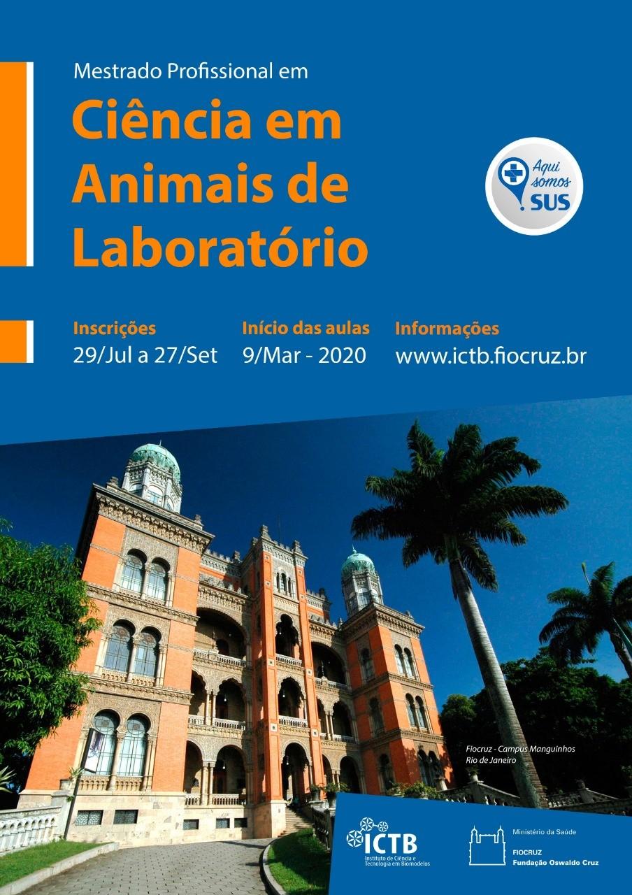Fiocruz abre vagas em Mestrado Profissional em Ciência em Animais de Laboratório