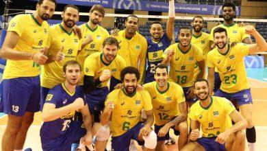 Celebração da vitória (Divulgação/FIVB)