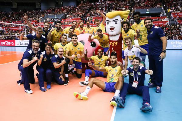 Brasil comemora o título antecipado (Getty Image/FIVB)