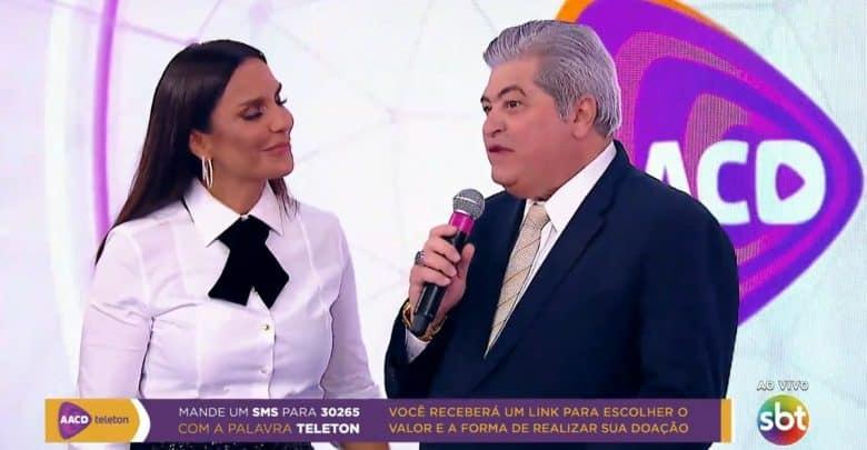 Datena chega no Teleton 2019 reclamando: 'Eu to cansado pra caramba'