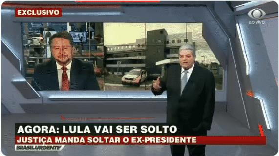 Datena questiona: 'Foi só pra prender o Lula nas eleições? E agora solta, é isso?'; veja vídeo