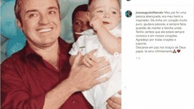 Filho de Gugu faz homenagem Foto/reprodução Instagram