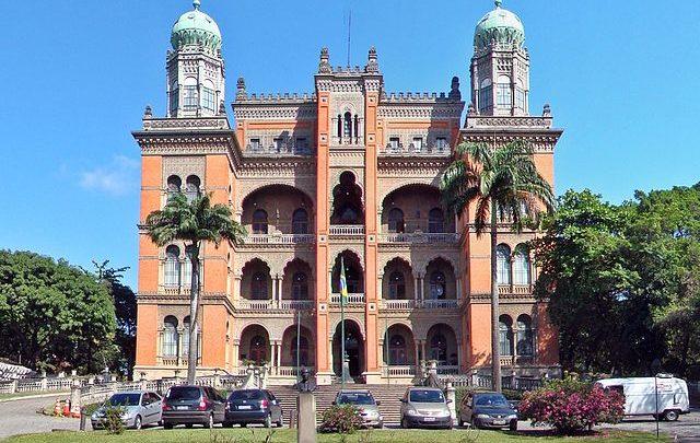 O castelo da Fundação Oswaldo Cruz (FIOCRUZ), Manguinhos, Rio de Janeiro, Brasil