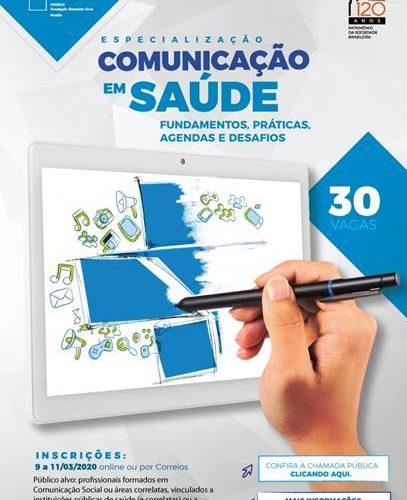 Fiocruz Brasília recebe inscrições para novo curso de especialização gratuito