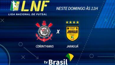 Corinthians x Jaraguá: jogo de Futsal terá transmissão da TV Brasil