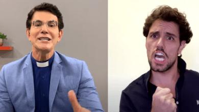 Padre Reginaldo Manzotti e Thiago Arancam cantam música de Renato Russo e Flávio Venturini
